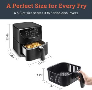 COSORI Air Fryer,Max XL 5.8 Quart,1700-Watt Electric Hot Air Fryers