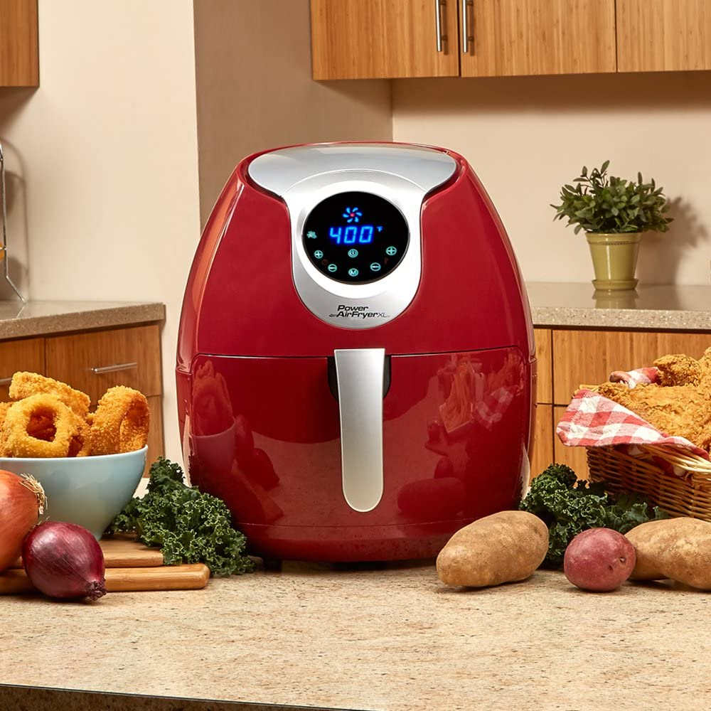 Power Air Fryer XL 3.4 QT Deluxe Red Air Fryer