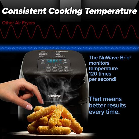 NUWAVE BRIO 4.5-Quart Digital Air Fryer